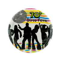 Wholesale 8 pack 70s theme plates PA323