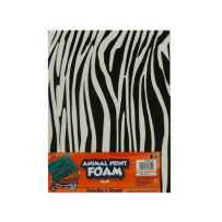 Wholesale 6 animal print foam sheets 8.85 x 11.8 inches CG010