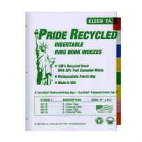 Wholesale 3-Ring Binder 30% Recycled White Paper Dividers w/ 8-Insertable Color Tabs 08119
