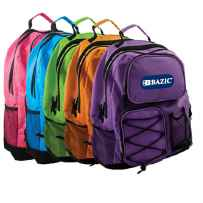 "Wholesale BAZIC 17"" Odyssey Bright Color Backpack 1009"
