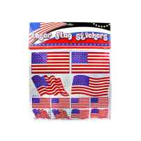 Wholesale American flag laser stickers GM024