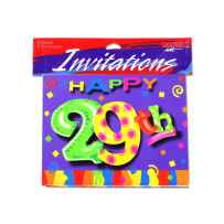 Wholesale 29th birthday invitations, pack of 8 KH135