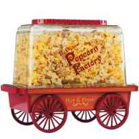 Wholesale Vintage Wagon Popcorn Maker- Red PC-481